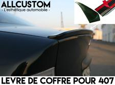 SPOILER BECQUET LEVRE LAME AILERON COFFRE pour PEUGEOT 407 COUPE 2005-11 HDI V6