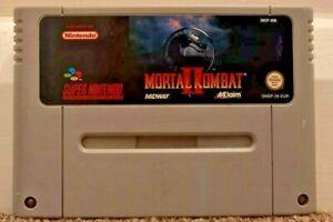 Mortal Kombat 2 II Nintendo SNES Super Nintendo Cart Only PAL UK
