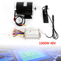 1KW 48V Electric Go Kart Motor kit Control Box Key Lock & Foot Pedal Throttle US