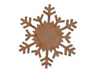Snowflake MDF Laser Cut Craft Blanks in Various Sizes