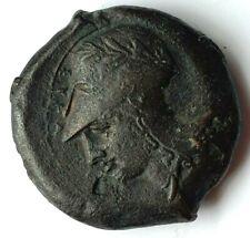 More details for syracuse (sicily) 400-300 bc litra trias hippocamp / athena ancient bronze coin