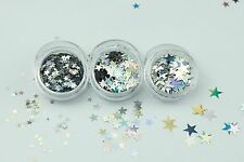Chunky Glitter Star Shapes-Face Body Eye Festival Club Dance Cosmetic MUA Nail