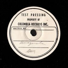 "DAY, Doris. Imagination 7"" 33 vinyl test pressing on 10.5"" disc.  c. 1949  M-"