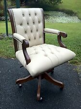 Australian Hand Crafted London Chesterfield Leather Reproduction Swivel Chair