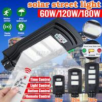 180W 18000LM LED Solar Panel Street Light PIR Motion Sensor Wall Lamp w/ Remote