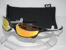 CUSTOM OAKLEY POLARIZED JULIET SUNGLASSES CARBON / FIRE IRIDIUM .. X-METAL