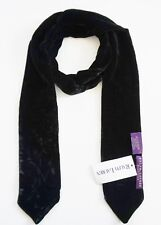 $495 NWOT RALPH LAUREN COLLECTION Purple Label Black VELVET Skinny Scarf