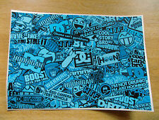Sticker Bomb sheet 3f - Blue - A4 size