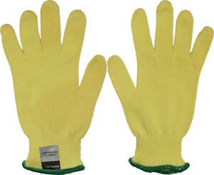 Heat & Cut Resistant Gloves, US Made with Kevlar Yellow Knit Hand Safety