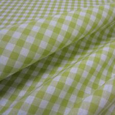 Stoff Meterware Baumwolle Karo kariert hellgrün grün Maigrün weiß Bauernkaro NEU