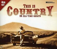 """THIS IS COUNTRY , 4 CD SET """"88 ALL-TIME GREATS"""" NEW SEALED"""