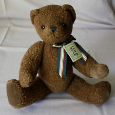 "Department 56 Ted D Bear 15"" Stuffed Plush Chocolate Brown Jointed Arms & Head"