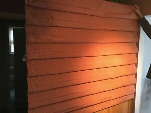 """GORGEOUS BUDGET BLIND NEW ROMAN SHADE RED CHECK,68"""" X 48.5"""" ORG $650"""