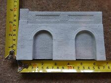 6 X Detailed Model Railway Retaining Wall With Aches For HO / OO Length 1 M Gray