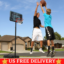 "44"" Impact Adjustable Basketball Hoop Goal Stand Portable Indoor Outdoor Wheels"