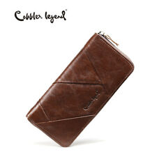 Cobbler Legend Retro Women Wallets Genuine Leather Clutch Gifts For Her Mum Lady