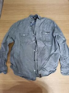 Dissident Size XL Blue Gingham Print Casual Shirt