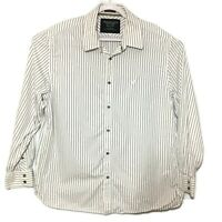 American Eagle Outfitters Vintage Fit White Striped Button Up Shirt Mens 2XL XXL
