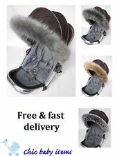 Mothercare  hood fur trim fit pushchair, pram mothercare all models