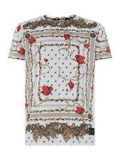 CRIMINAL DAMAGE AVI Baroque Print T-Shirt White / Gold