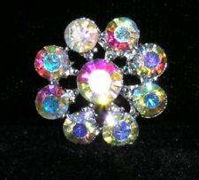 18mm Silver Crystal Carat Pave Diamond Rhinestone Vintage Domed Shank Button