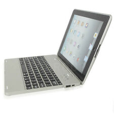 Aluminum Alloy Silver Macbook Style Stand Bluetooth Keyboard Case For iPad 2 3 4