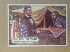 1962 Civil War News Cards  # 79     COUNCIL OF WAR         No Creases