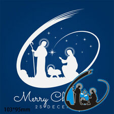 Merry Christmas Metal Cutting Dies Scrapbooking Album Craft Embossing stencil