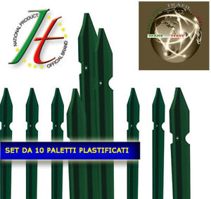 PALETTI IN FERRO PLASTIFICATI PER RECINZIONE METALLICA  ALTEZZA CM .. SET 10 PZ