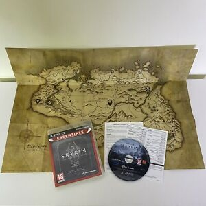 Elder Scrolls V Skyrim Legendary Edition PS3 Playstation 3 Complete Map Manual