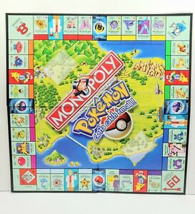 Monopoly Pokemon Edition Replacement Game Board Only Genuine Original
