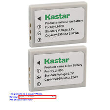 Kastar Replacement Battery for Olympus Li-80B & OLYMPUS T-100 T-110 X-36 X-960