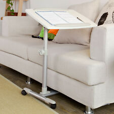 SoBuy® Folding Laptop Computer Table, Bed Sofa Side Table,FBT07N2-W, White, UK