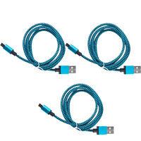 3x USB Micro Braided Charging Cable For Motorola Droid Turbo 2 Moto X G4 G5+ E5