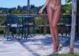 Super GLOSSY CdR Cecilia de Rafael ETERNO 15 Pantyhose Black Natural Bronze
