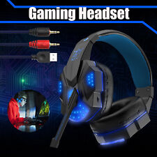 Gaming Headset with LED Fit For PS4  Xbox One PC  Stereo Surround Mic Headphones