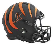 "Bengals Chad Johnson ""WTTJ""  Signed Eclipse Full Size Speed Rep Helmet JSA"