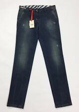 jeans madame Berwich nuovo pants donna slim carota denim w30 tg 44 blu T2319