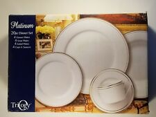 Trilogy. Platinum - 20pc Dinner Set.