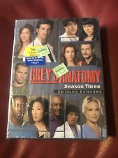 Grey's Anatomy - The Complete Third Season (DVD, 2007, -S. Extended - BRAND NEW