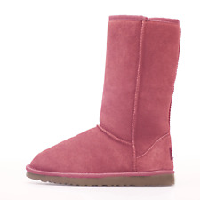 Premium Unisex Australian Sheepskin Water Resistant Tall Ugg Boot - Pink