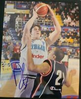 DANILO GALLINARI SIGNED 8X10 PHOTO OKC THUNDER KNICKS CP3 W/COA+PROOF RARE WOW