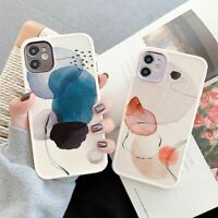 Art Watercolor Phone Case Shockproof Bumper TPU Cover For iPhone 12 11 X XS XR 8