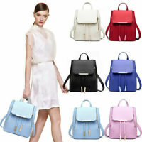 Women's PU Leather Satchel Shoulder Backpack School Rucksack Bags Travel Lot