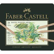 Faber-Castell Colour Pencil PITT Pastel Tin 24 Colours Professional