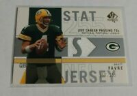 R18,603 - BRETT FAVRE - 2001 SP AUTHENTIC - STAT JERSEY - #199/255 - PACKERS -