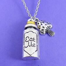 EAT ME BOTTLE CHARM NECKLACE alice in wonderland disney classic vintage retro