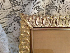Vintage Flare Running Ovals & Plumes Metal Picture Frame 8 X 10