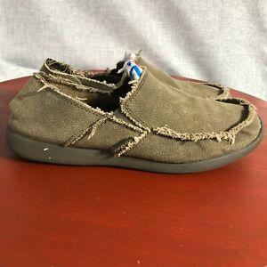 Crocs Santa Cruz Classic Men's Size 12 Shoes Brown Slip On Comfort Walk Mocassin