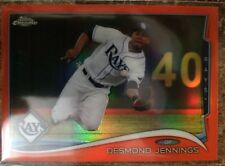 2014 Topps Chrome Orange Refractor Desmond Jennings #131 Tampa Bay Rays